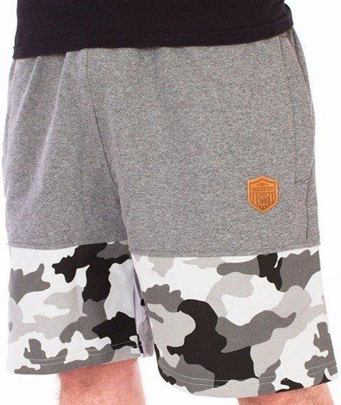SmokeStory-Moro Wstawki Premium Krótkie Spodnie Dresowe Szare/Szare/Camo