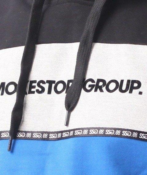 SmokeStory-One Line Bluza Kaptur Czarny