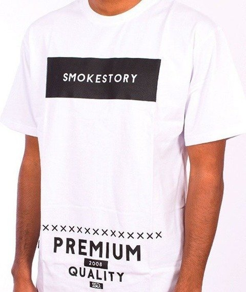 SmokeStory-Rectanagle T-Shirt Biały