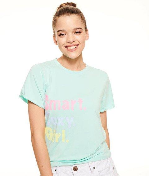 SmokeStory-Roll Up T-shirt Damski Mięta