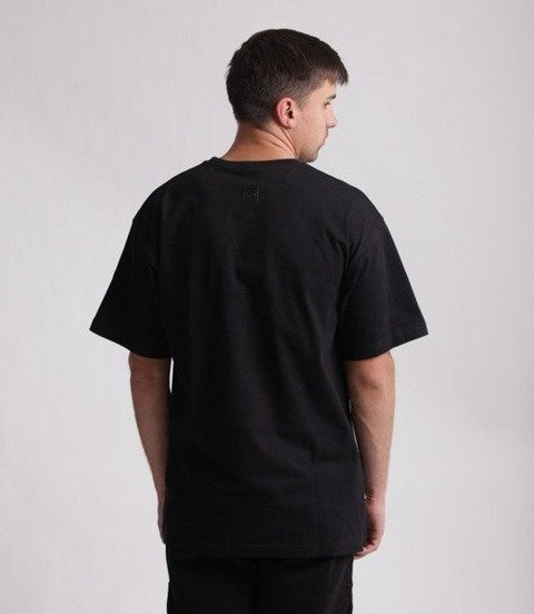 SmokeStory-SMG Three Lines T-Shirt Czarny