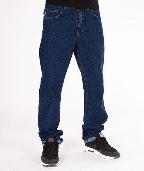SmokeStory-SSG Big Outline Slim Jeans Medium Blue