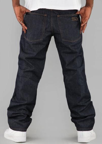 SmokeStory- SSG Haft Classic Regular Jeans Spodnie Dark Blue