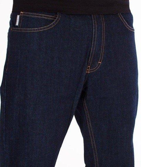 SmokeStory- SSG Haft Classic Slim Jeans Spodnie Dark Blue