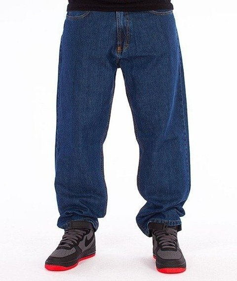 SmokeStory-SSG Tag Baggy Jeans Medium Blue
