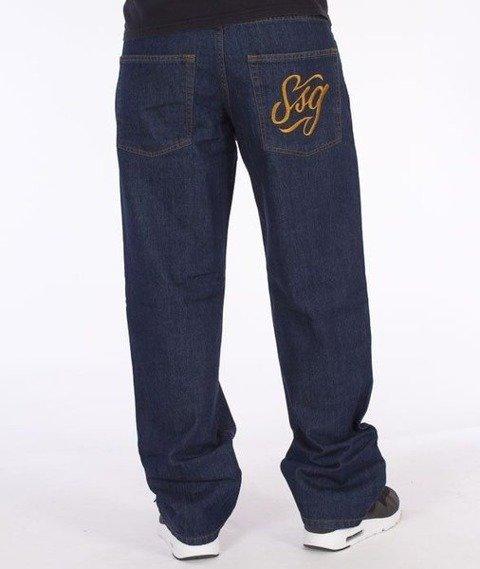 SmokeStory-SSG Tag Regular Jeans Dark Blue