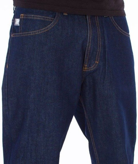 SmokeStory-SSG Tag Regular Jeans Dark Blue