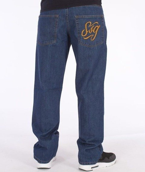 SmokeStory-SSG Tag Regular Jeans Medium Blue