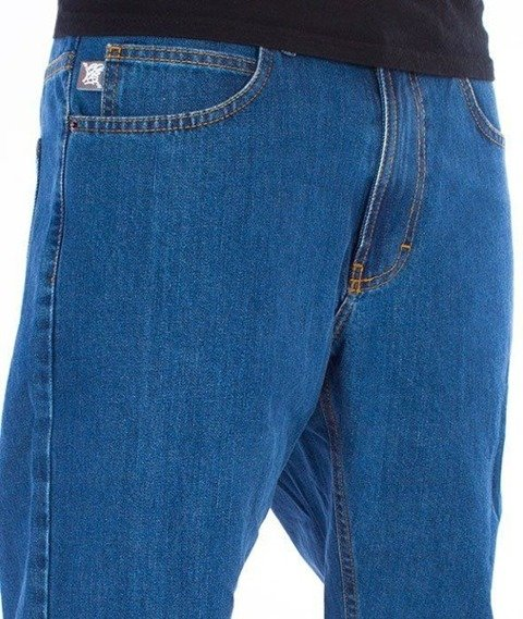 SmokeStory-SSG Tag Slim Jeans Spodnie Light Blue