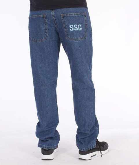 SmokeStory-Simple Slim Jeans Light Blue