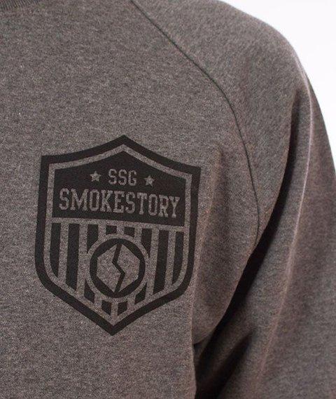 SmokeStory-Sleeve Reglan Bluza Szara