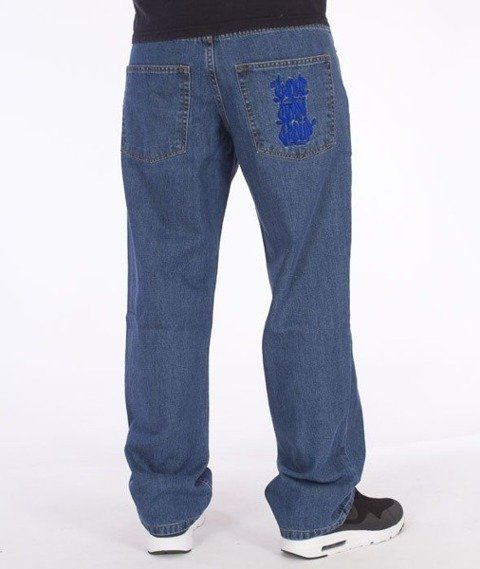 SmokeStory-Smoke Tag Regular Jeans Light Blue