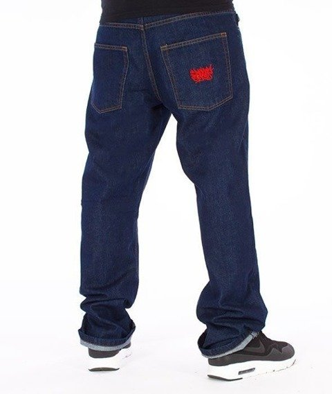 SmokeStory-Smoke Tag Slim Jeans Dark Blue