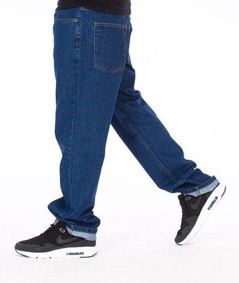 SmokeStory-Smoke Tag Slim Jeans Medium Blue