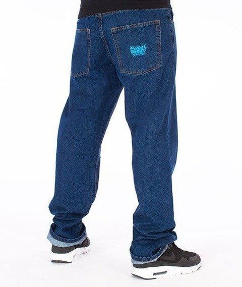 SmokeStory-Smoke Tag Slim Jeans Medium Blue