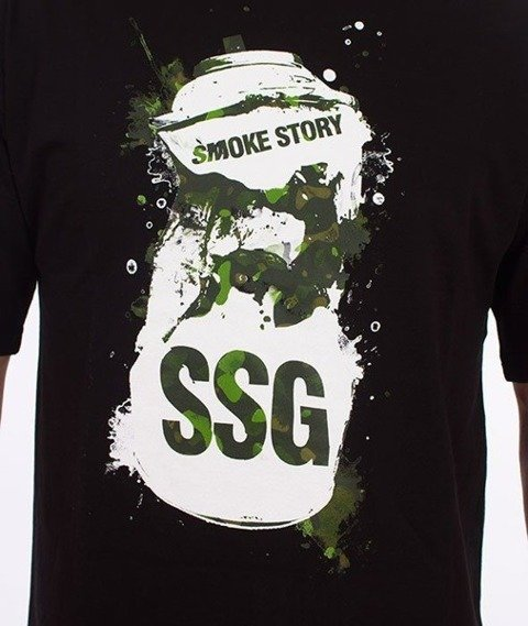 SmokeStory-Spray T-Shirt Czarny