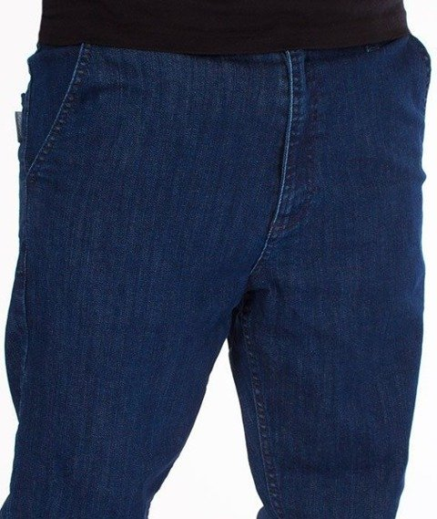 SmokeStory-Stretch Skinny Jeans Guzik Spodnie Medium
