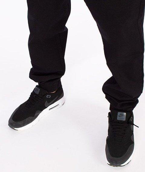 SmokeStory-Tkanina Regular Jogger Spodnie Czarne