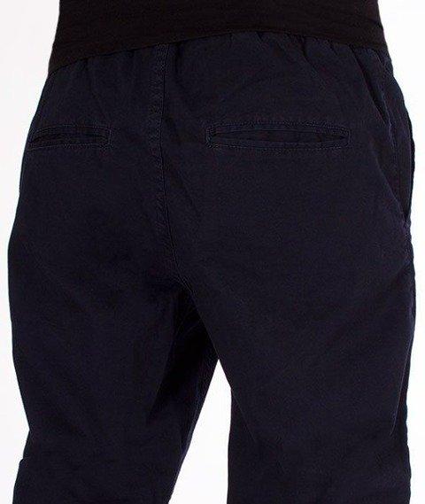 SmokeStory-Tkaninowe Jogger Regular Spodnie Granatowe