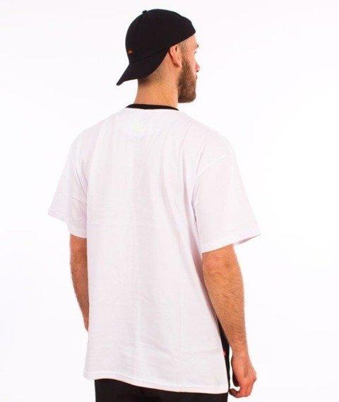SmokeStory-Triple Outline T-Shirt Biały/Czarny