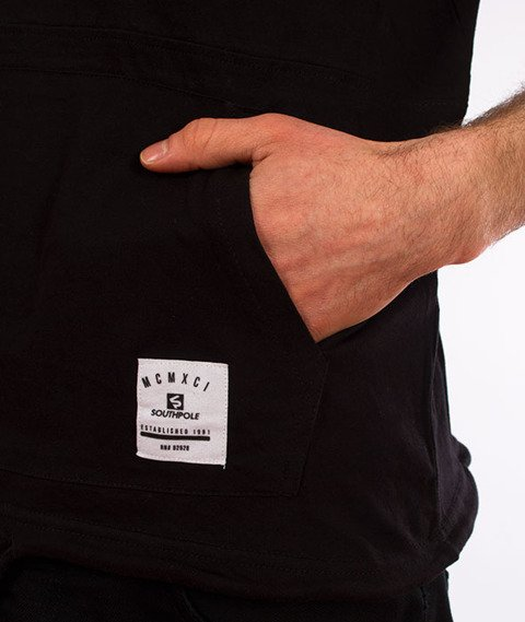 Southpole-Anorak T-shirt Kaptur Czarny
