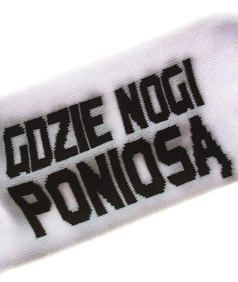 Stoprocent-Nogi Skarpetki White
