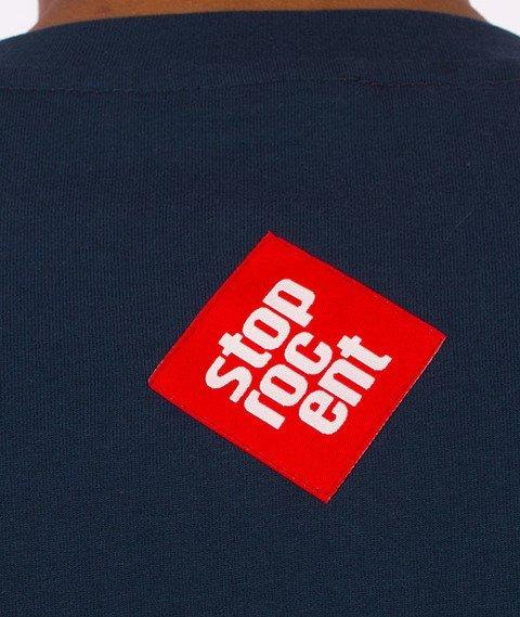 Stoprocent-Oil Tag T-shirt Granatowy