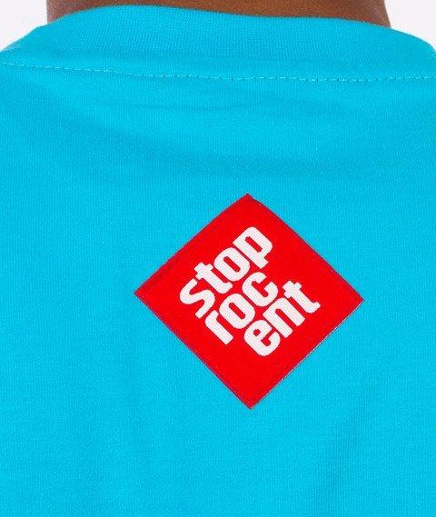 Stoprocent-Oil Tag T-shirt Niebieski