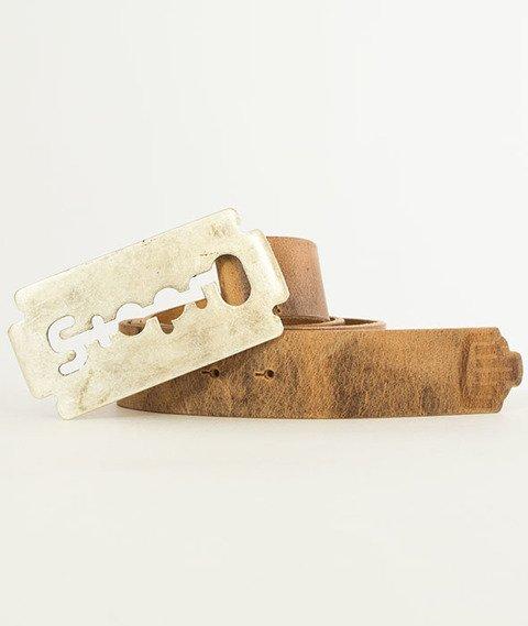 Stoprocent-Razor Pasek Brązowy/Srebrny