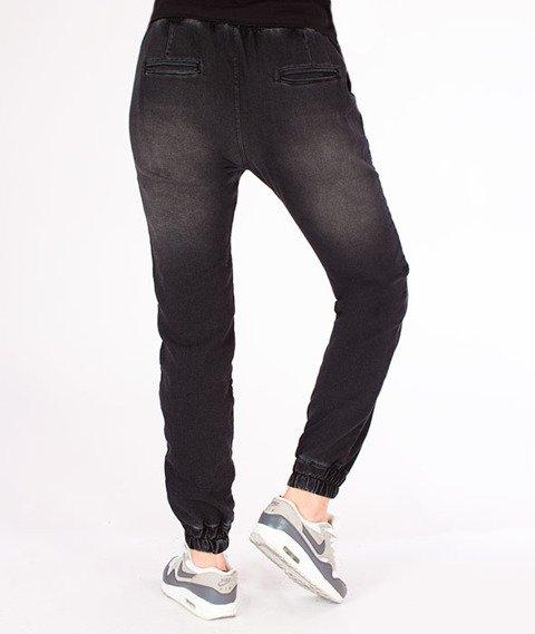 Stoprocent-SDJH Highjogger Jeans Spodnie Damskie Czarne