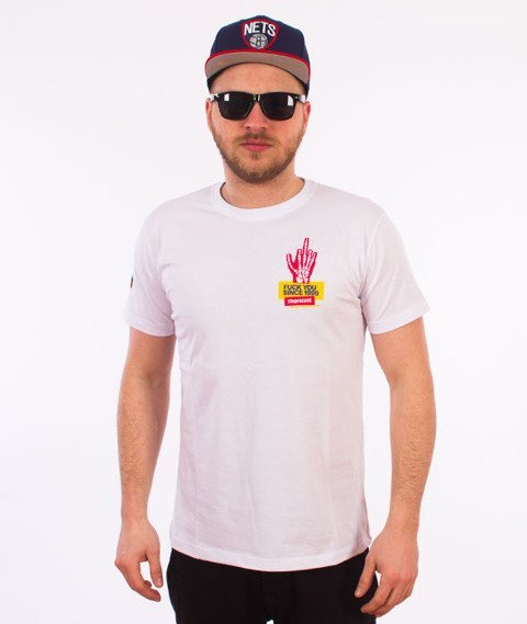 Stoprocent-Skelet T-Shirt Biały