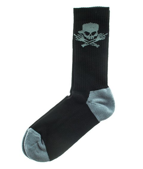 Stoprocent-Skull16 Skarpety Długie Czarne