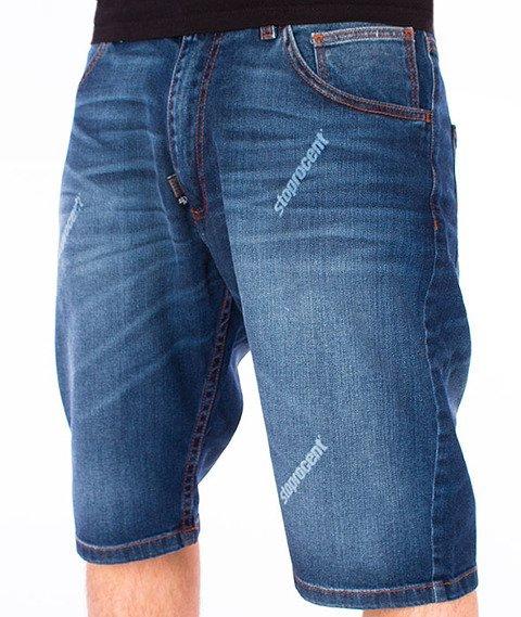 Stoprocent-Stamp Shorts Jeans Spodnie Krótkie Niebieskie