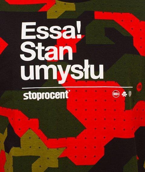 Stoprocent-Stan Camu T-Shirt Camo/Czerwony