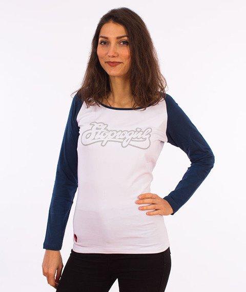 Stoprocent-Stoprogirl Longsleeve Damski Biały/Granatowy