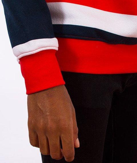 Stoprocent-Stripes17 Bluza Granat/Czerwona/Biała