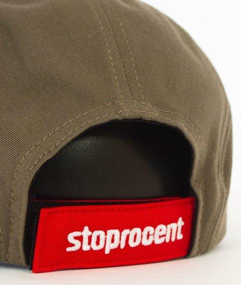 Stoprocent-Tag 5Panel Snapback Khaki