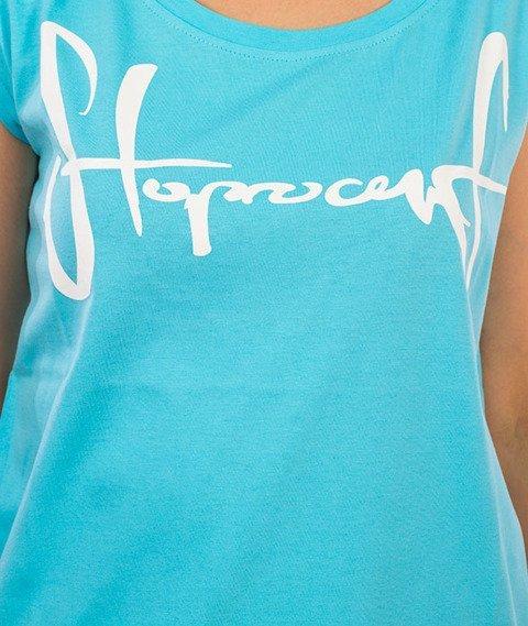Stoprocent-Tagirl T-Shirt Damski Niebieski