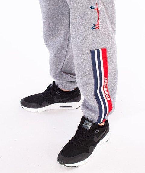 Stoprocent-Tricolors17 Spodnie Dresowe Szare