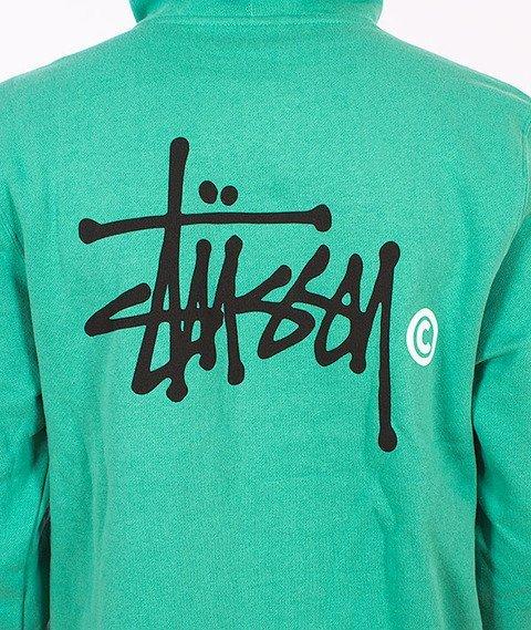 Stussy-Basic Logo Hood Green
