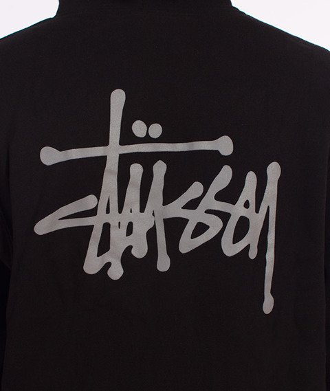 Stussy-Basic Stussy Hood Bluza Kaptur Czarny