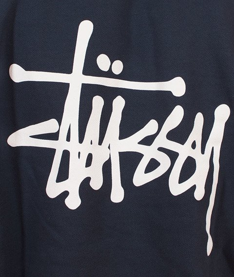 Stussy-Basic Stussy Hood Bluza Kaptur Ink