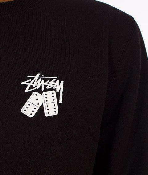 Stussy-Dominos Stussy Crewneck Bluza Black