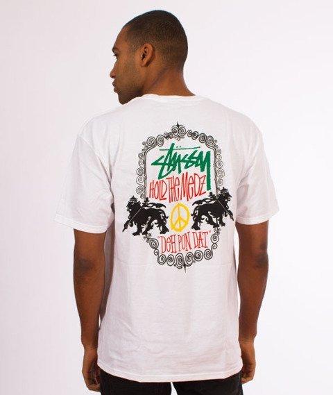 Stussy-Lion Shield T-Shirt White
