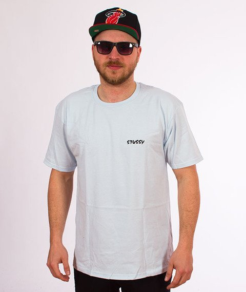 Stussy-Neon Dragon T-Shirt Light Blue