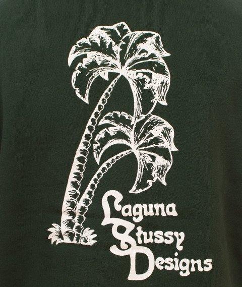 Stussy-Palms Applique Hood Bluza Kaptur Dark Forest