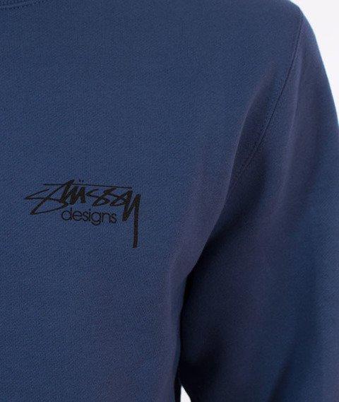 Stussy-Roses Stussy Crewneck Bluza Cool Blue