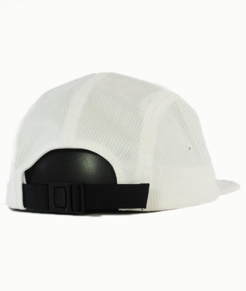 Stussy-Seersucker Camp 5 Panel Czapka Off White