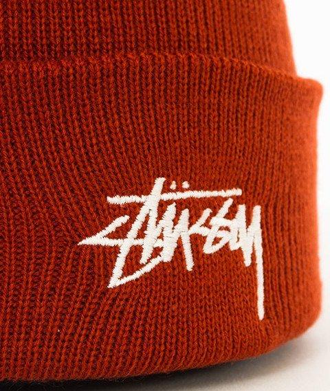 Stussy-Stock Fa17 Cuff Beanie Czapka Zimowa Rust