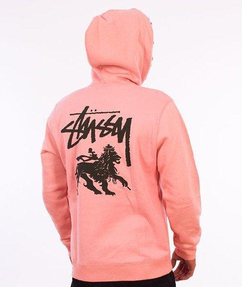 Stussy-Stock Lion Hood Bluza Kaptur Dusty Rose